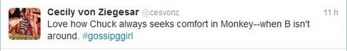 Cecily von Ziegesar tweet !