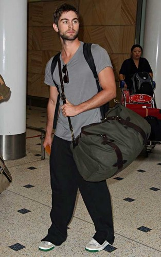 Chace Crawford wallpaper probably with a flute titled Chace Crawford as he arrived in Sydney, Australia (April 21).