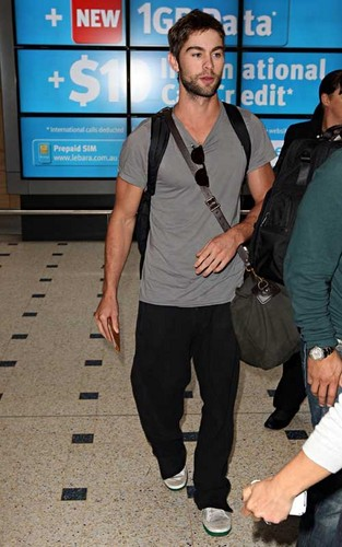 Chace Crawford as he arrived in Sydney, Australia (April 21).