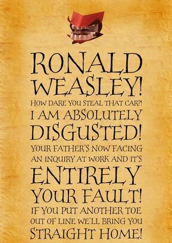 Chamber of Secrets Ron's Howler LOL