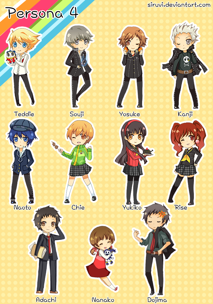Persona 4 Anime Characters : Persona the animation images chibi group hd
