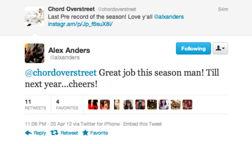Chord Overstreet confirmed for Season 4?