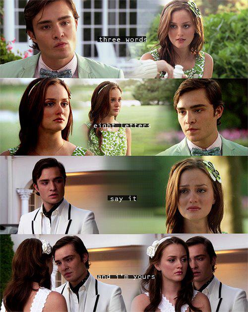 Chuck♥Blair- 2x01 - the moment I fell in cinta with them !