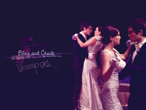 Blair & Chuck karatasi la kupamba ukuta containing a bridesmaid entitled Chuck&Blair