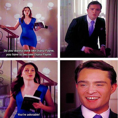 Blair & Chuck karatasi la kupamba ukuta with a business suit, a suit, and a well dressed person entitled Chuck and Blair 5x22