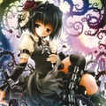 Cute gothic\emo anime girl