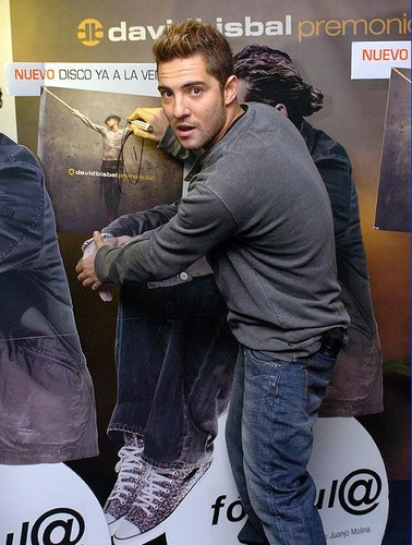 DAVID BISBAL PASSION GITANA wallpaper possibly containing a sign entitled DAVID BISBAL