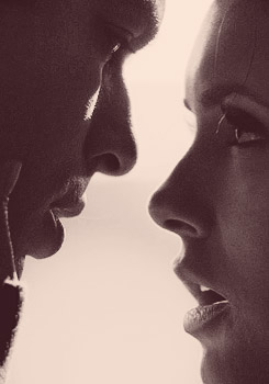 Damon & Elena wallpaper probably containing a portrait called Damon/Elena 3x19♥