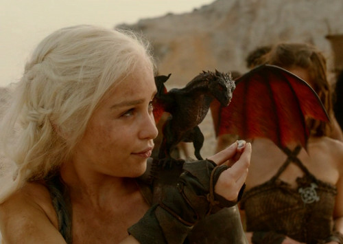 Dany with one of her ドラゴン