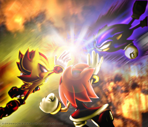 Dark Sonic vs Super Shadow