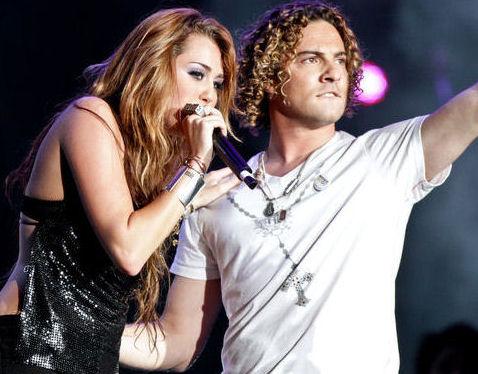 David Bisbal y Miley Cyrus
