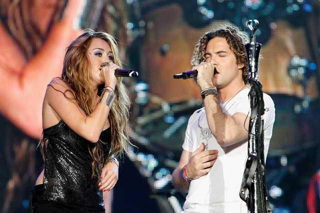 David Bisbal y Miley Cyrus