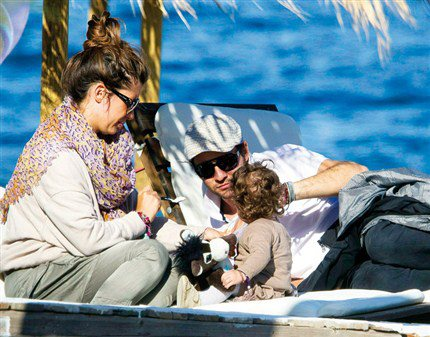 David Bisbal y su hija Ella su ex Novia Elena Tablada