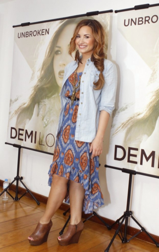 Demi - Press Conference in Rio De Janeiro, Brazil - April 19th 2012