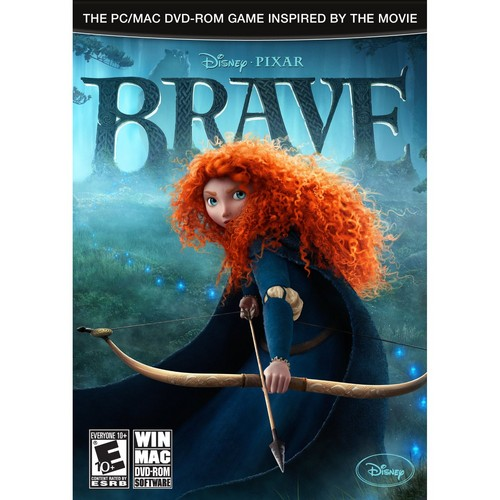 Disney Pixar Rebelle livres and PC videogame cover