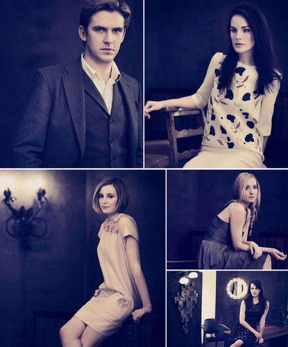Downton Abbey پیپر وال with a well dressed person called Downton Abbey Cast <3