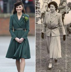 Duchess Catherine and queen Elizabeth