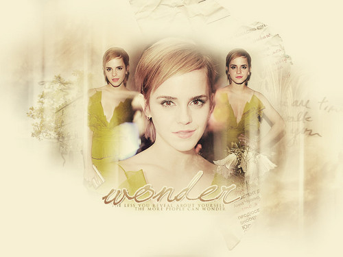 Emma Watson wallpaper probably with a bouquet and a portrait entitled EmmaWatson!