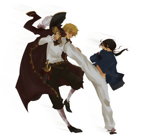 Hetalia Pirate RP Images England VS China Wallpaper And