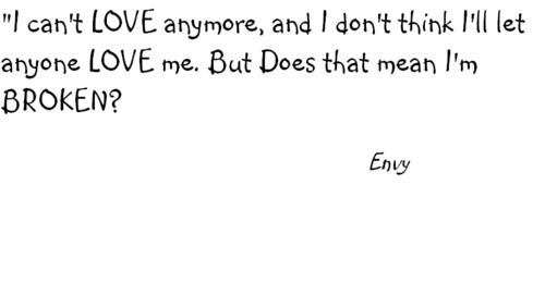 Dream Diary karatasi la kupamba ukuta titled Envy's Quote