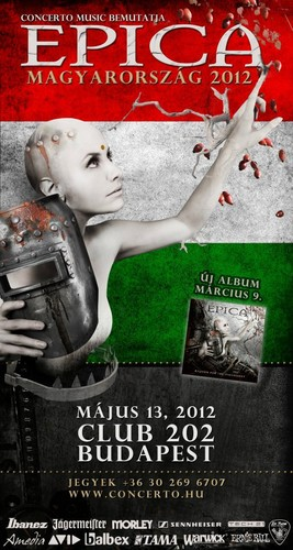 "Epica 2012 ""Requiem for the Indifferent"" (World Tour) : Posters"