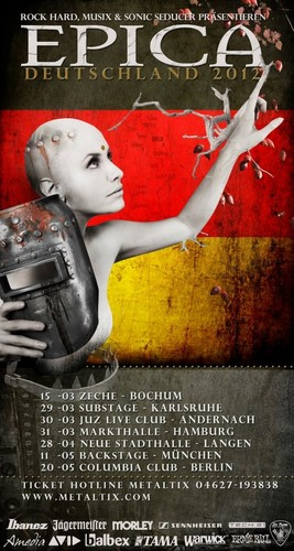 """Epica 2012 """"Requiem for the Indifferent"""" (World Tour) : Posters"""
