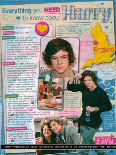 Everything te Need To Know About Harry :) x