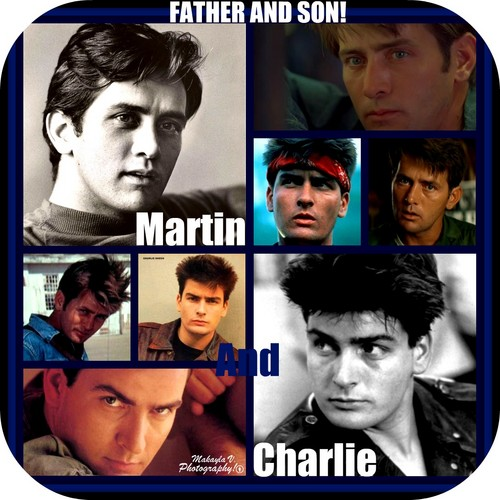 Father And Son! (Martin And Charlie Sheen Background)