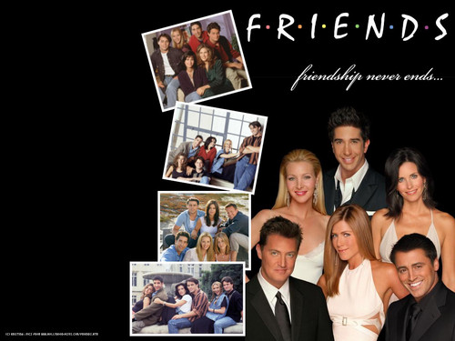 Friends wallpaper possibly with a business suit, a newspaper, and anime called Friends!