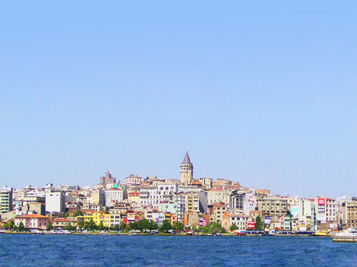 Turkey wallpaper with a business district entitled Galata Kulesi