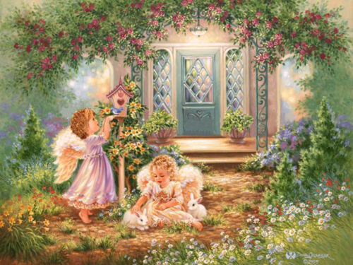 Exceptionnel Yorkshire_rose Wallpaper Entitled Garden Angel
