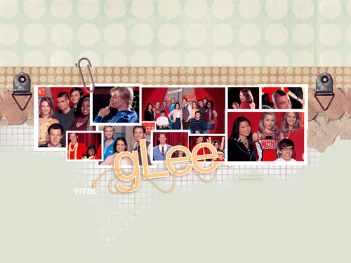 glee wallpaper probably containing a newspaper and anime entitled Glee!