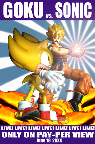 Dragon Ball Z images Goku vs Sonic HD wallpaper and background photos