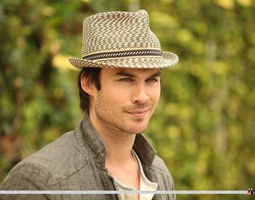 Ian Somerhalder wallpaper possibly with a boater and a fedora called HQ Pics - Ian Somerhalder arrives at Earth Day Celebration on April, 22