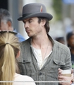HQ Pics - Ian Somerhalder hanging out with friends at Venice Beach - April, 22