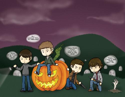 Halloween, CSI, Dean & Sam