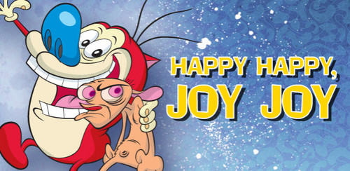 Ren and Stimpy wallpaper containing anime titled Happy Happy Joy Joy