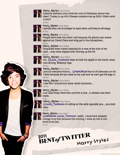 Harry Styles 2011 best tweets