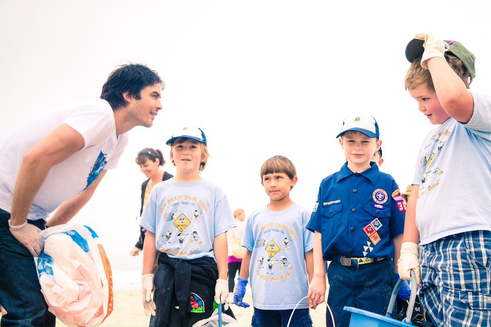 Ian Chatting with a Bunch of Kids ISF