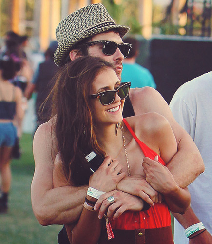 Ian Somerhalder and Nina Dobrev wallpaper containing sunglasses titled Ian/Nina HQ ღ