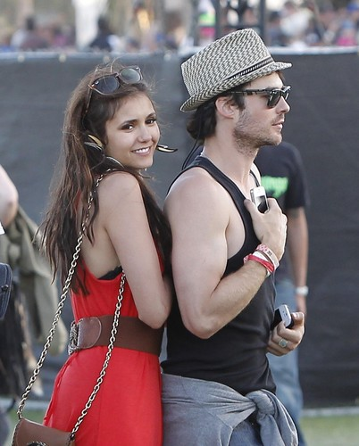 Ian Somerhalder and Nina Dobrev wallpaper titled Ian/Nina ღ