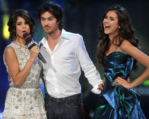 Ian Somerhalder, Nina Dobrev and Selena Gomez!