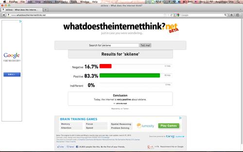Internet Likes Skilene!