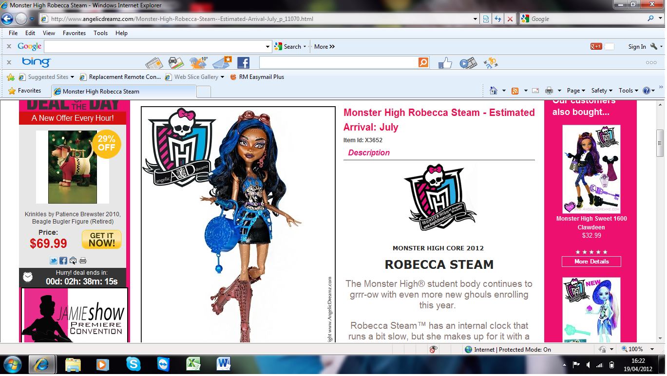 Is this the actual date for it's release - monster-high photo