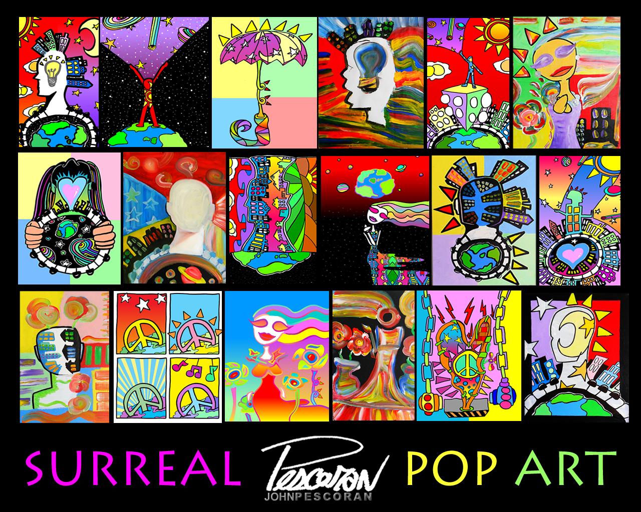 john pescoran pop art wallpaper pop art wallpaper. Black Bedroom Furniture Sets. Home Design Ideas
