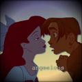 Jim&Ariel kiss.