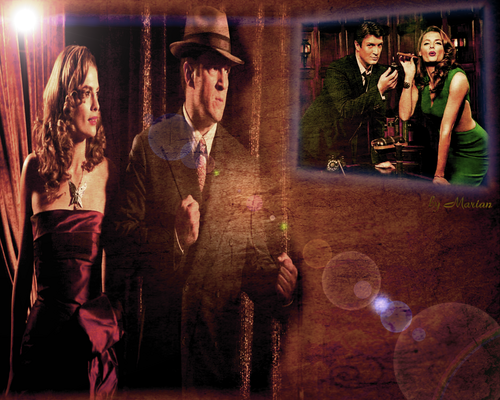 замок Обои probably containing a fedora and a boater entitled Joe&Vera<3 Caskett