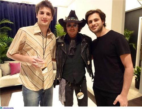 Johnny Depp at Elton John's show, Las Vegas, April 19