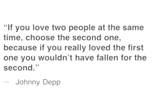 Johnny Depp's Quote.