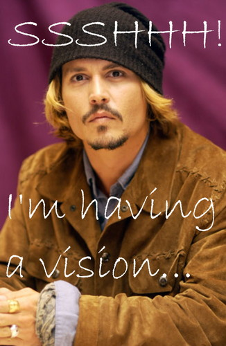 Johnny Depp wallpaper possibly containing a sign entitled Johnny depp is pshycic